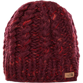 The North Face Chunky Knit Bonnet, fig/faded rose multi